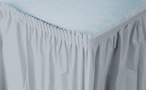 Creative Converting Kunststoff Tisch Rock, 14-feet, Schimmernde Silber