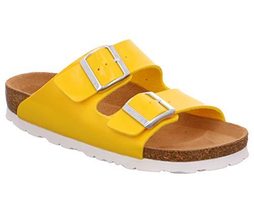 Rohde Alba 5633 20 Damen Sandale Sandalette Pantolette 20 Gelb, Größe:D 38