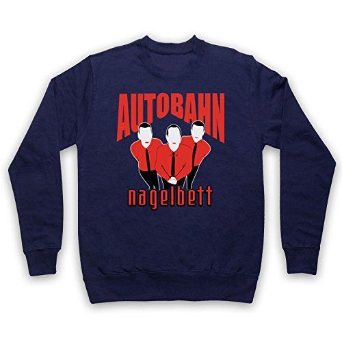 My Icon Art & Clothing Lebowski Autobahn Nagelbett Comedy Film Erwachsenen Sweatshirt, Ultramarinblau, XL
