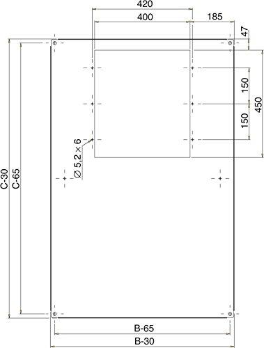Schneider NSYSRSYS88 Spacial SF-dakplaat voor CaSys-dakinbouwen, 800 x 1000 mm