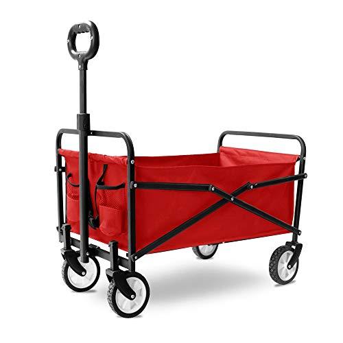 Lwieui Carros y vagonetas Multi Purpose Carretilla Plegable Plegable Compras con Tirador Carrito de Jardin de Servicio (Color : B, Size : 71x43x25cm)