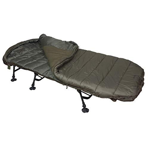 Sonik SK-TEK Sac de couchage pour carpe avec doublure en polaire en trois tailles différentes 5 saisons avec fermeture éclair rapide Taille standard