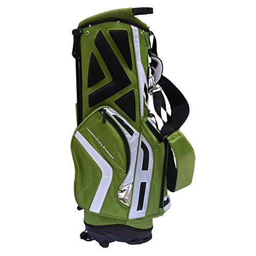 MOMIN Leichte Golf Stand Bag Green Golf Bag Stand Bag Leichte Reisetasche Organizer Golf Bucket Bag Kann 11 Putters Halten Reise (Color : Green, Size : As Shown)