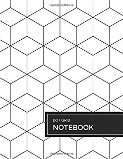 Dot Grid Notebook: Minimalist Geometric 3D Cubes  - 8 1/2