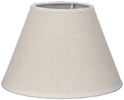 Better & Best 20 Crema Retor Pantalla de lámpara de lino, redonda, de 20 cm