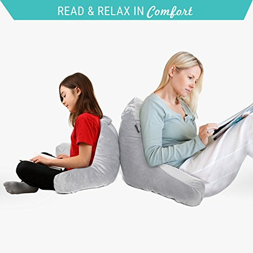 Milliard Reading Pillow with Shredded Memory Foam, Great As Backrest for Books Or Gaming- 18x15 inches (Sit up Pillow)