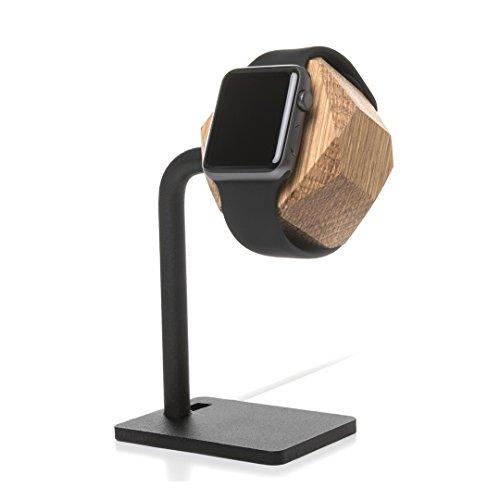 Woodcessories - kompatibel mit AppleWatch 1, 2, 3 & 4 aus Echtholz - EcoDock Watch (Eiche)