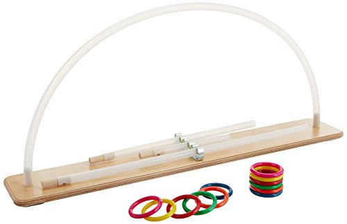 Rolyan Graded ROM Arc, Range of Motion Exerciser for Upper Extremity Physical Therapy, Rehabilitation, Recovery, Wood Base & Plastic Tube with 12 Rings, Improves Mobility of Shoulder, Arm, Elbow