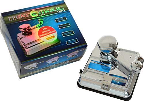 Zigarettenstopfmaschine OCB Mikromatic Duo mit Hebel aus Metall in silber glänzend