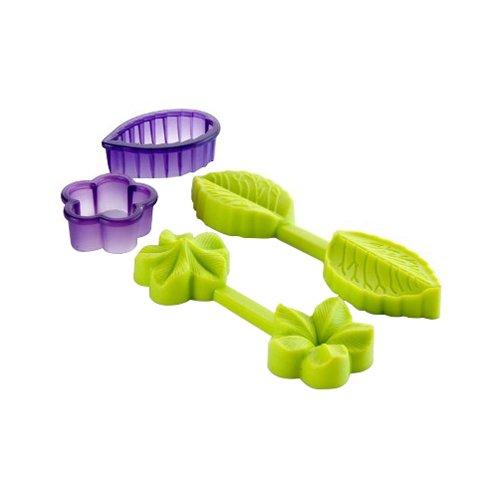 Ibili 789100 Moule 3D Forme Fleur/Feuille 100% Silicone + Emporte-pièces