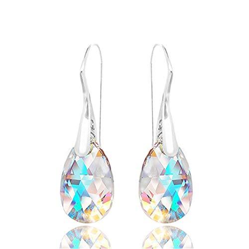 Cngstar Crystal Earrings Blue Gem Drop Dangle Hook Charm Fashion Diamond Stud Earrings Women Jewelry Gift