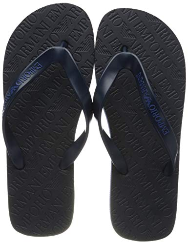 Emporio Armani Flip-Flops für Mann oder Pool Artikel X4QS01 XL826, 00005 Black iris, EU 39 - UK 6 - USA 6,5 - CN 251/88