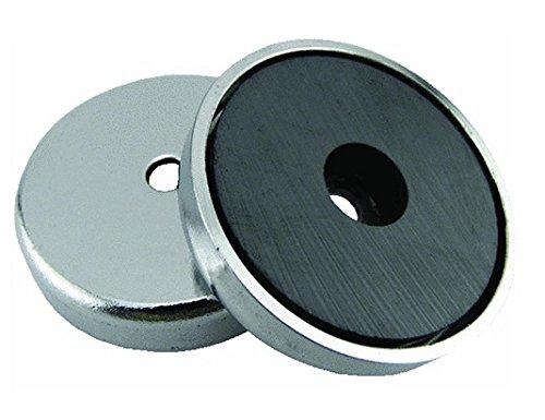 Rundmagnet 36 x 7 mm bis 7,2 kg Power Magnet rund super-stark verchromt