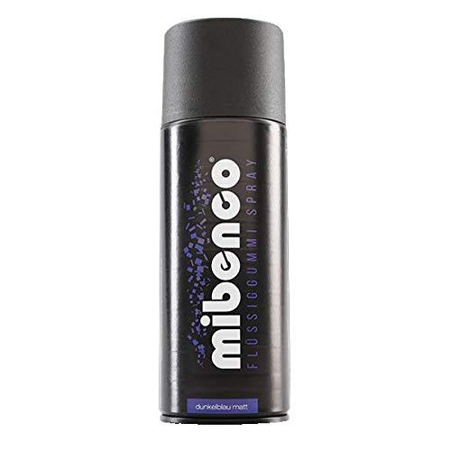 mibenco 71425002 Flüssiggummi Spray / Sprühfolie, Dunkelblau Matt, 400 ml - Neue Farbe und Schutz für Oberflächen und zum Felgen lackieren