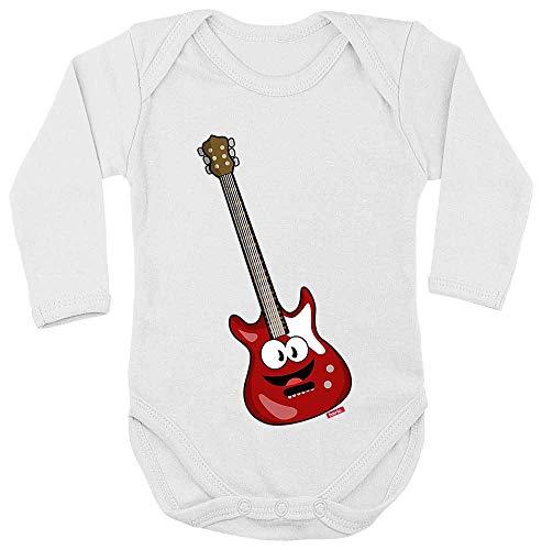 Hariz - Body de manga larga para bebé, guitarra eléctrica, instrumento para...