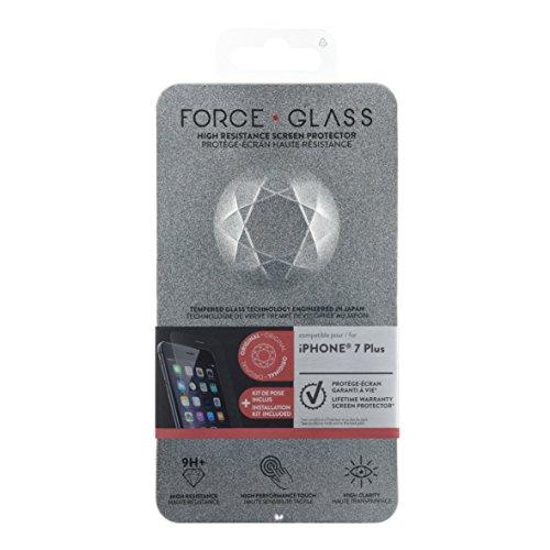Forceglass Film de protection d'écran en verre trempé pour iPhone6 Plus/6S Plus/7 Plus/8 Plus