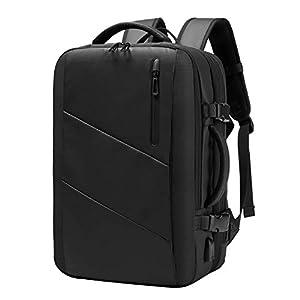SUNOGE リュック ビジネスリュック メンズ リュックサック バックパック 大容量 USB 充電ポート マチ拡張 盗難防止 PC 15.6インチ ラップトップバック 多機能 撥水加工 耐衝撃 人気 おしゃれ 出張 旅行 通勤 通学 黒
