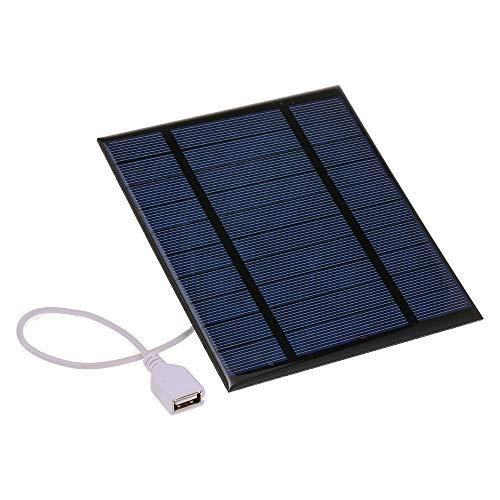Blusea Caricabatteria Solare Caricatore Solare Portatile 500mAh 2.5W 5V con Porta USB Pannello Solare Caricatore Compatto del Telefono per la Corsa di Escursione di Campeggio