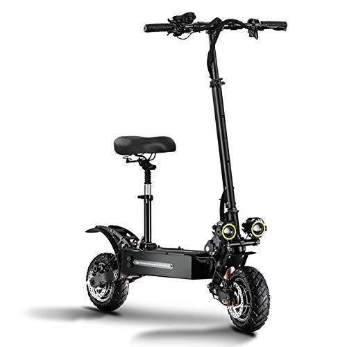 ZLYJ Patinete Electrico Adultos, Scooter Electrico con Asiento Extraíble, Motores Duales 2800W 38Ah, Kilometraje Máximo 100Km, Conducción Segura