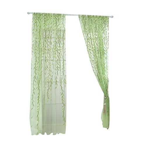 cortinas salon 2 piezas verdes