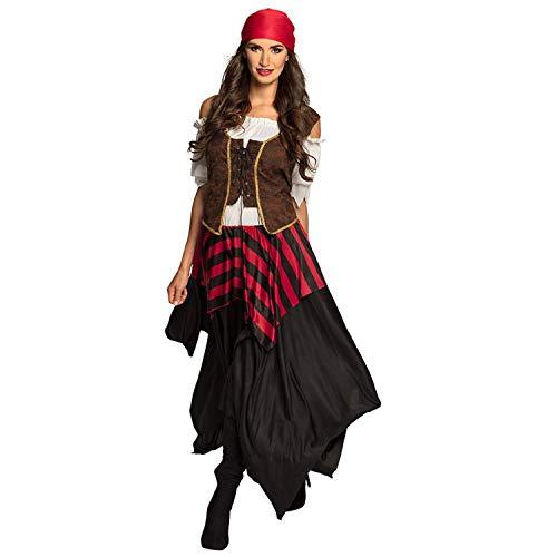 Boland 84559 – Disfraz de pirata Tornado, vestido, corsé, pañuelo para la cabeza, para mujer, pirata libre, disfraz, carnaval, fiesta temática