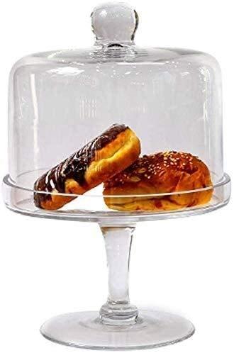 COLiJOL Fruit Bowl Fruit Schotel Cake Stand Glazen lade Cake Tray Dust Cover voor transparante hoge lade voor bruiloft woondecoratie voor de keuken fruitmand (maat: Medium), Gemiddeld, Medium