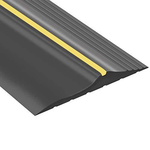 Weatherproof Universal Garage Door Bottom Threshold Seal Strip DIY Weather Stripping Replacement,Not Include Sealant/Adhesive (20Ft)