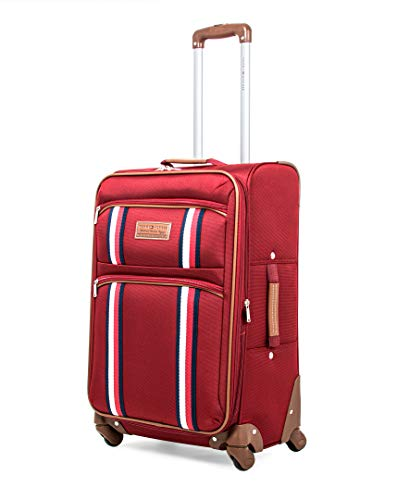 Tommy Hilfiger Scout 5.0 Softside Expandable Spinner Luggage, Red, 24 Inch