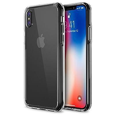 iPhone X Case, Trianium [Clarium Series] iPhone X Clear Case w/ Reinforced TPU Bumper Hybrid Cushion +Scratch Resistant / Enhanced Hand Grip / Hard Back Panel Cover for Apple iPhone X / 10 Phone 2017