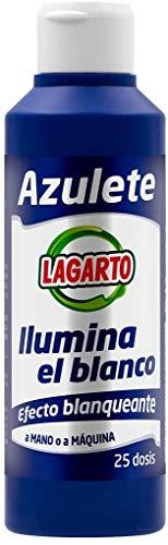 Lagarto Aditivo de Lavado Azulete, 25 Lavados, Paquete de 15 x 250 ml, 3750 Gramos