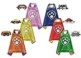Brigamo 6 x Fellfreunde Superhelden Kinderkostüm Kinder Kostüme, ideal für Kindergeburtstag,...