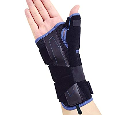 Velpeau Wrist Brace Thumb Spica Splint Support for De Quervain's Tenosynovitis, Carpal Tunnel Syndrome, Stabilizer for Arthritis, Tendonitis, Sprains, Sports Injuries Pain Relief (Right Hand-S)