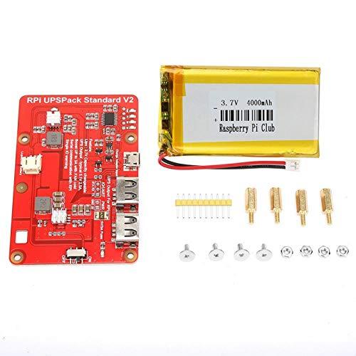 Placa de expansión de batería de litio para Raspberry Pi, placa de expansión de batería de litio UPS con batería de...