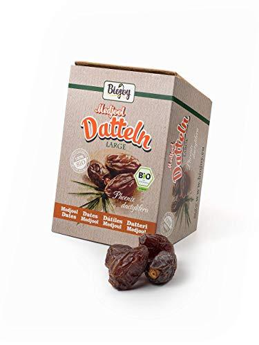 Biojoy Medjool-dattes Bio de l'Israël, sans additions sans soufre et scellées sans sucre (1 kg)