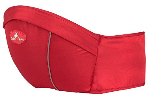 Happy Cherry - Portabebes de Cintura Ajustable Diseño Erogonómico con Múltiples Posiciones para Manos Libres Transpirable Cómodo para bebé de 4-36 meses - Rojo