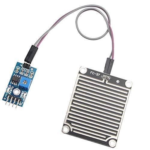 HALJIA Rain sensore pioggia acqua piovana modulo Rain rilevamento modulo meteo umidità modulo Compatibile con Arduino