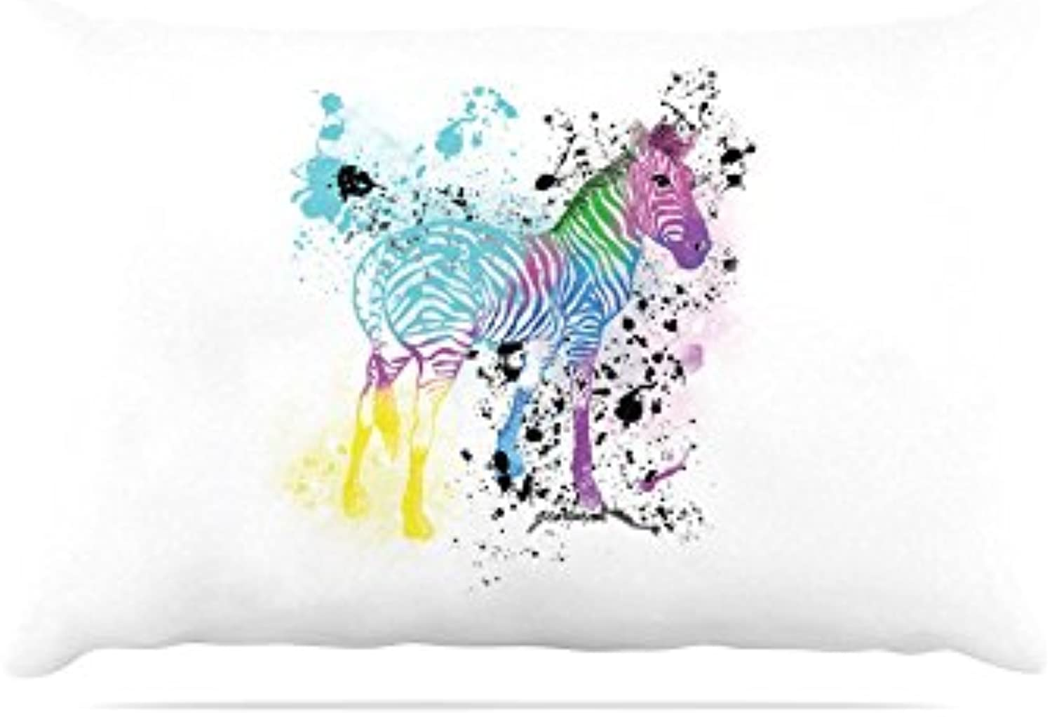 Kess InHouse Geordanna CorderoFields My Panda Sketch  Black White Fleece Dog Bed, 30 by 40