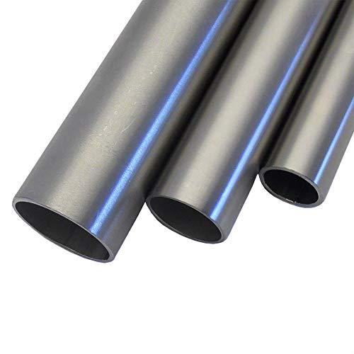 V2A Edelstahl Rohr rund Oberfläche geschliffen, Korn 240 Länge 500 mm Abmessungen Ø 20,0mm x 1,5mm