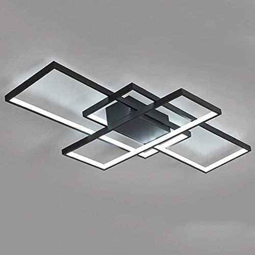Waqihreu Lámpara de Techo para Sala de Estar, lámpara LED Moderna, Simple y de Moda, Utilizada en Dormitorio, Cocina, Comedor, Oficina, atenuación de Control Remoto, decoración de Arte