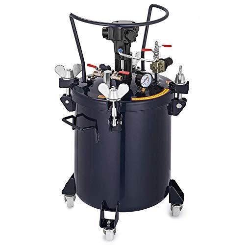 VEVOR Pulverizador de Pintura de Alimentación de Presión 30 L, Tanque Pintura de Pulverización de 31 x 74 cm (Tamaño), Regulador del Pulverizador de Mezcla Automático con Aire Presión de 90 psi