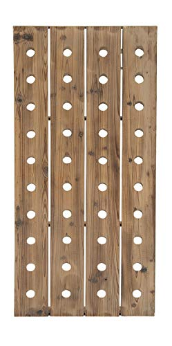"""Deco 79 55409 Extra Large Rustic Reclaimed Wood Hanging Wine Rack 
