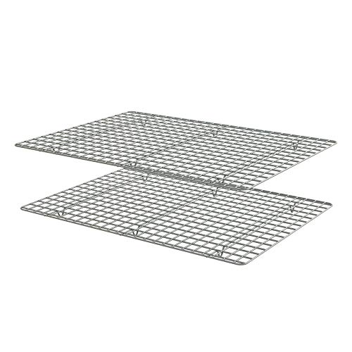 HOMVIDA Bakeware Nonstick Grid Rack for Baking Sheet Stainless Steel Oven Safe Cooling Rack - 2 Pack