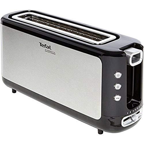 Tefal TL365ETR Toaster Express 37 x 18 x 10cm, Edelstahl/Schwarz