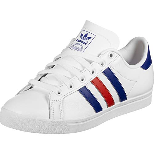 adidas Coast Star, Zapatillas de Gimnasia Hombre, Blanco (FTWR White/Collegiate Royal/Scarlet FTWR White/Collegiate Royal/Scarlet), 38 2/3 EU