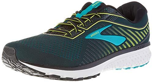 Brooks Ghost 12, Men's Running Shoes, Black (Black/Lime/Blue Grass 018) - 9 UK