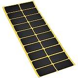 Adsamm® | 20 x Antirutsch Pads aus EPDM/Zellkautschuk / 20x40 mm/Schwarz/rechteckig / 2.5 mm starke rutschhemmende Pads