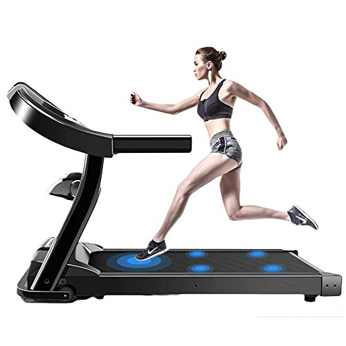 NXLWXN Cinta De Correr Profesional con Gran Pantalla LCD, Más De 18 Km/H, Soporte para Tableta, Función Autolubricante, Pendiente del 15% Y Tamaño Compacto Y Plegable