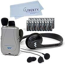 ELITE PACKAGE: PockeTalker Ultra w/ Headphone, FREE Dual & Single Earbuds, FREE Year Supply of Batteries & Liberty Microfiber Cloth