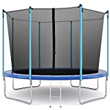 Trampoline 12FT Round Jumping Table with Safety Enclosure Net Sping Pad Combo Bounding Bed Trampoline Fitness...