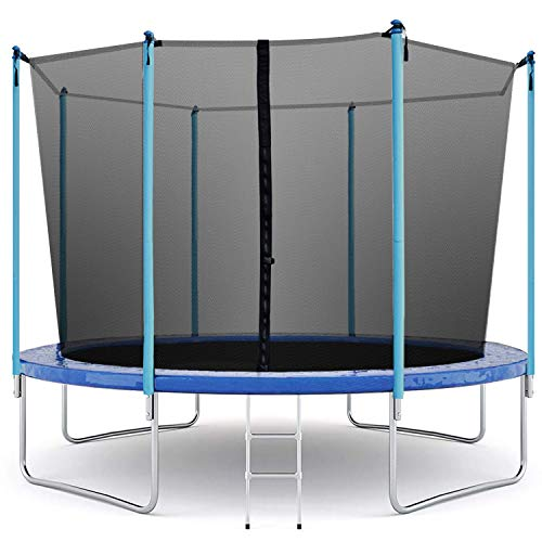 Trampoline 12FT Round Jumping Table with Safety Enclosure Net Sping Pad Combo Bounding Bed Trampoline Fitness Equipment